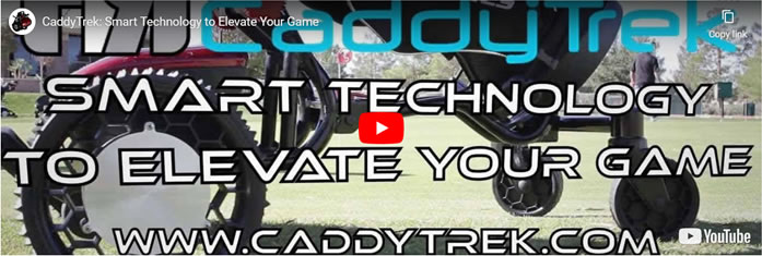 CaddyTrek electric golf caddy video